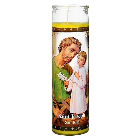 St. Jude Saint Joseph Prayer Candle 8 inch