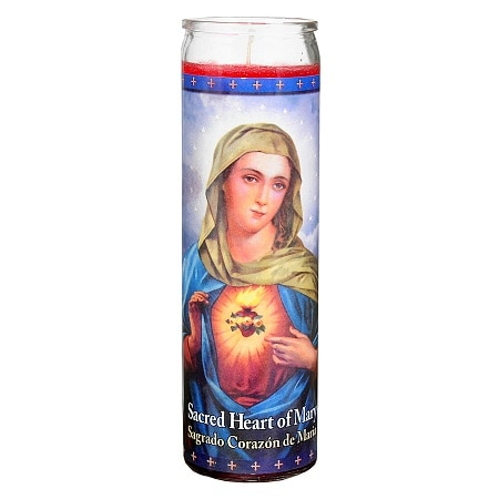 St. Jude Sacred Heart of Mary Prayer Candle 8.25 inch - 1 ea