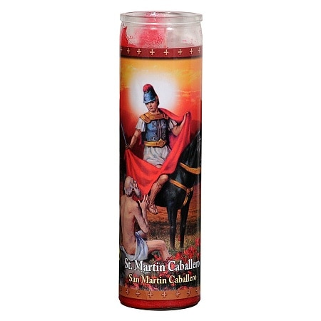 St. Jude St. Martin Caballero Prayer Candle 8.25 inch - 1 ea