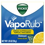 Vicks Vaporub Cough Suppressant Topical Analgesic Ointment Lemon