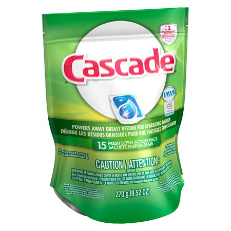 Cascade ActionPacs Dishwasher Detergent Fresh