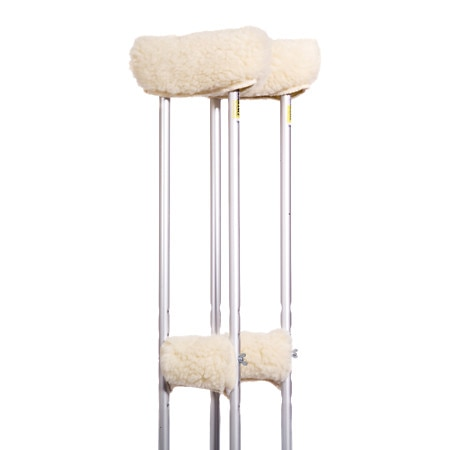 Image of Essential Medical Sheepette Premium Protectors Crutch Covers - 2 ea.