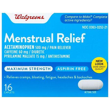 Walgreens Maximum Strength Menstrual Relief Caplets - 40 ea