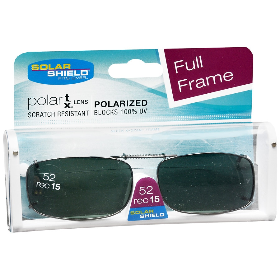 663c1a16155 Solar Shield Fits Over Metal Polarized 52 Rec 15 Clip On Sunglasses1.0 ea.