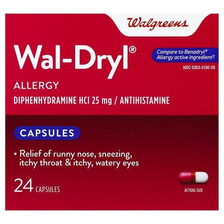 Walgreens Wal-Dryl Allergy Capsules - 24 ea.
