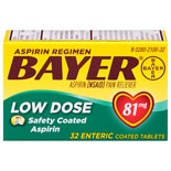 Bayer Low Dose Aspirin 81 mg Enteric Coated Tablets