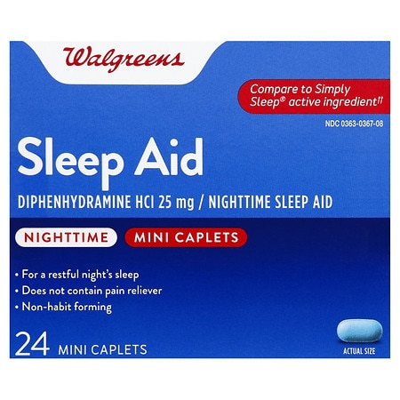 Walgreens Nighttime Sleep Aid Mini-Caplets - 24 ea.