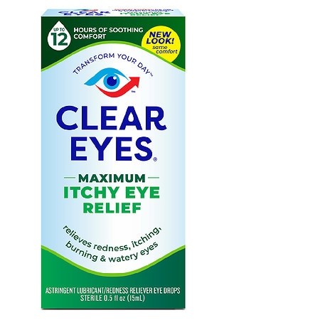 Clear eyes Maximum Itchy Eye Relief Eye Drops - 0.5 fl oz