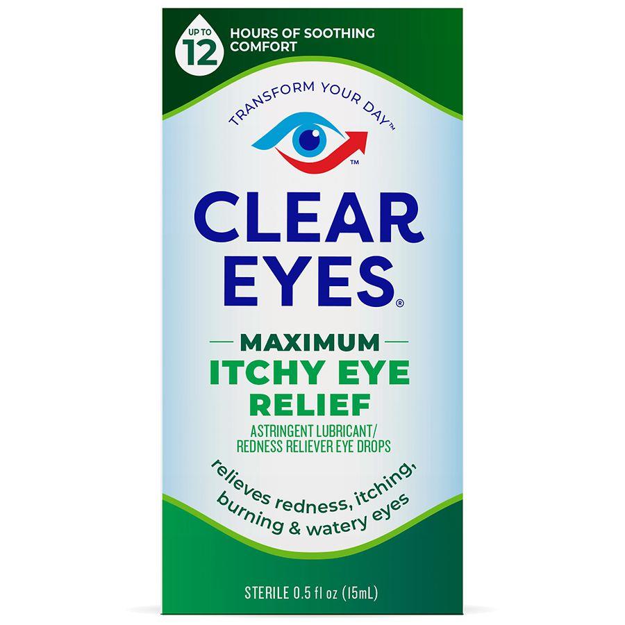 Clear Eyes Maximum Itchy Eye Relief Eye Drops Walgreens