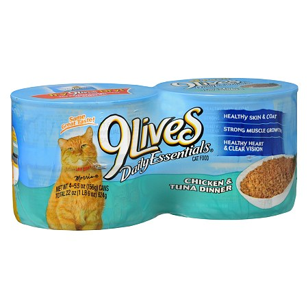 9 Lives Daily Essentials Canned Cat Food - 5.5 oz. x 4 pack