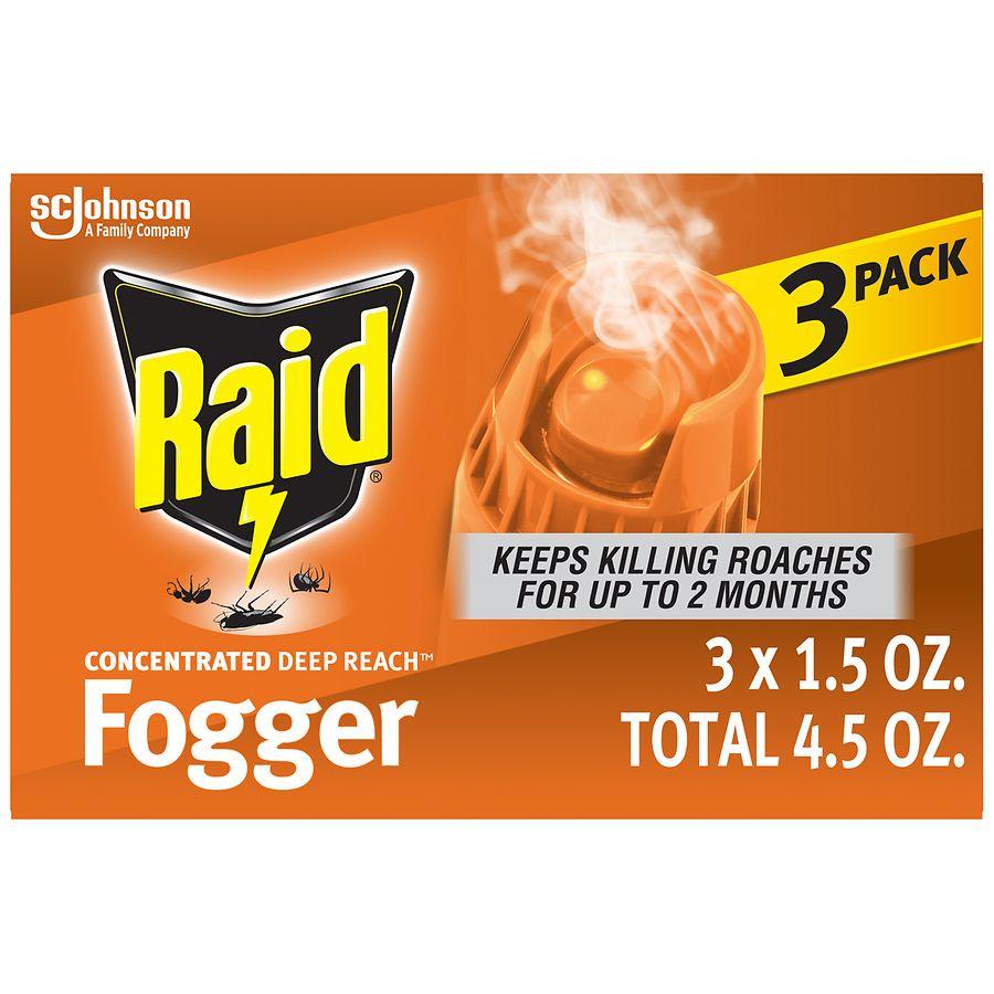 Raid Concentrated Deep Reach Fogger Pest Control Sprays