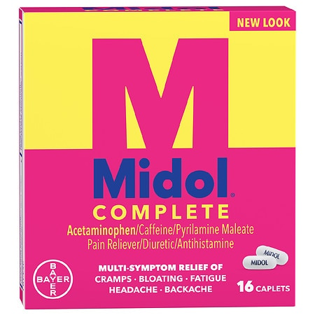 Midol Complete Menstrual Pain Relief Caplets