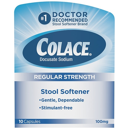 Colace Stool Softener 100 mg Capsules ... - Colace Stool Softener 100 Mg Capsules Walgreens