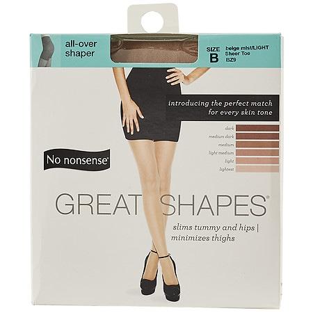 No Nonsense Great Shapes All-Over Shaper Sheer Toe Body Shaping Pantyhose Size B B - 1 ea.