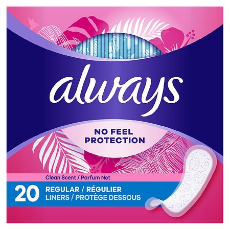 Always Thin Daily Liners Clean Scent Regular - 20 ea