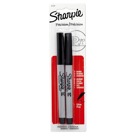 Sharpie Permanent Markers Ultra Fine Point - 2 ea