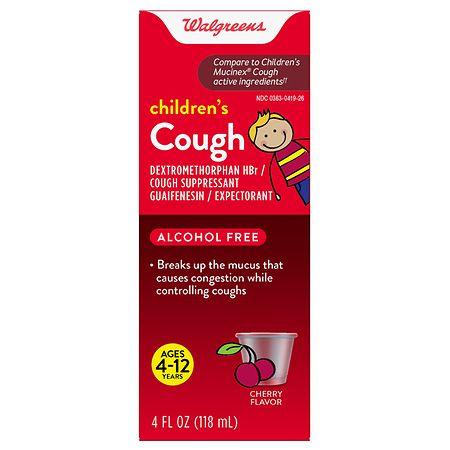 Walgreens Children's Cough Liquid Cherry - 4 oz.