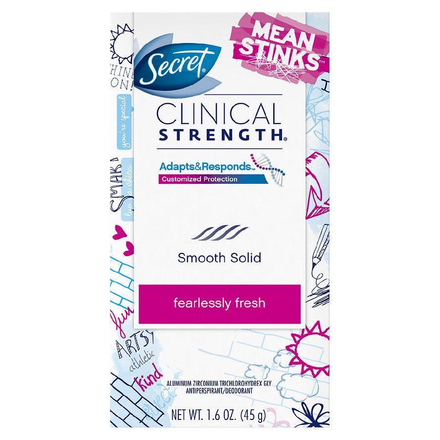 Secret clinical strength mean stinks advanced solid for Frash meaning