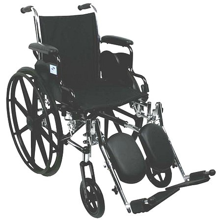 Nova Lightweight Wheelchair with Removable Desk Arms and Elevating Leg Rests - 1 ea.