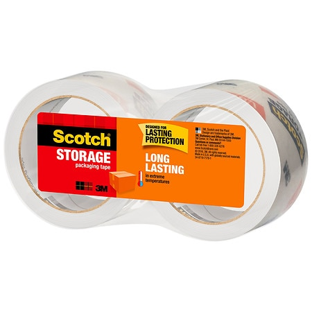 3M Scotch Moving & Storage Packaging Tape Rolls - 1966 in. x 2 pack