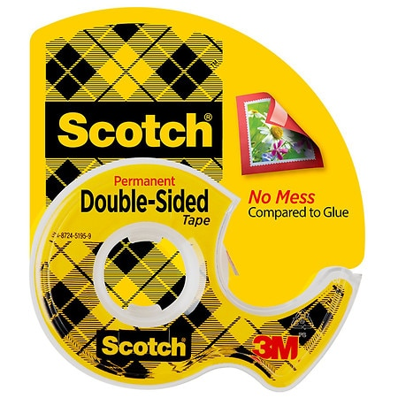 3m scotch double sided tape permanent walgreens. Black Bedroom Furniture Sets. Home Design Ideas
