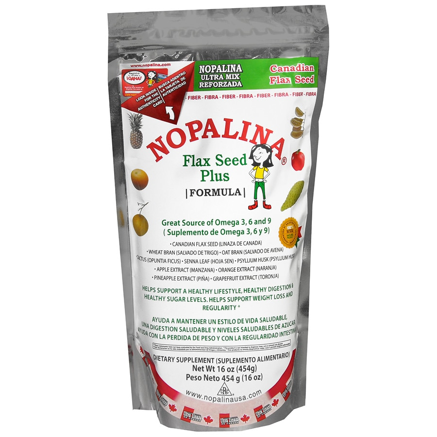 Nopalina Flax Seed Plus Dietary Supplement Powder Walgreens