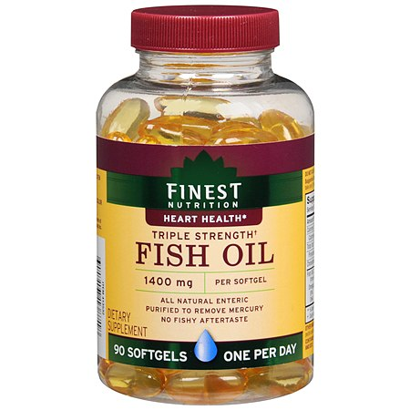 Finest nutrition fish oil 1400mg softgels walgreens for Fish oil nutrition