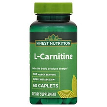 Finest Nutrition L Carnitine 500 Mg Dietary Supplement Tablets