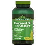 Finest Nutrition Flaxseed Oil 1000 mg Dietary Supplement Softgels