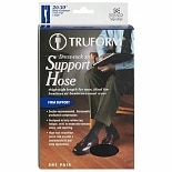 Truform Men's Dress-Sock Thigh High Firm (20-30 mm) with Silicone Stay-Up Top