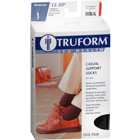 Truform Men's Moderate Casual Support Socks XL