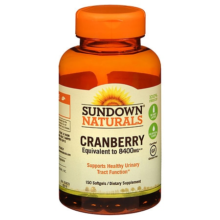 Sundown Naturals Naturals Super Cranberry plus Vitamin D3 Herbal Supplement Softgels