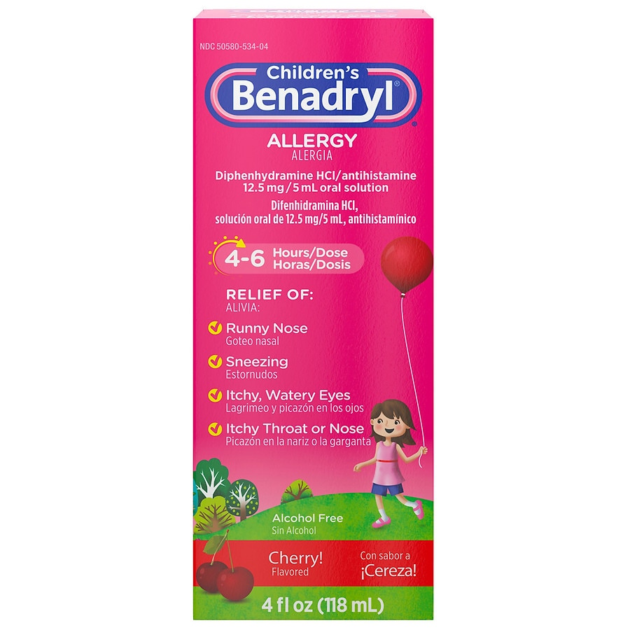 Benadryl Children\u0027s Allergy Liquid Cherry