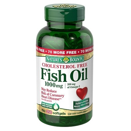 Nature's Bounty Fish Oil 1000 mg Dietary Supplement Rapid Release Liquid Softgel - 250 ea