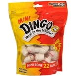 Dingo Rawhide Chews with Meat 22 Pack