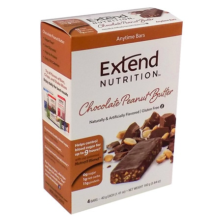 Extend Nutrition Bars Peanut Butter Chocolate Delight, 4 pk
