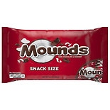 Mounds Snack Size Candy Bars Dark Chocolate Coconut Filled