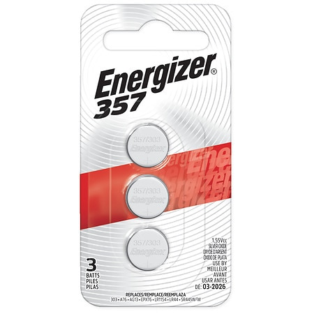 Energizer Watch/Electronic Silver Oxide Batteries LR44, 357