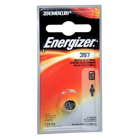 Energizer Watch/Electronic Silver Oxide Battery, 397