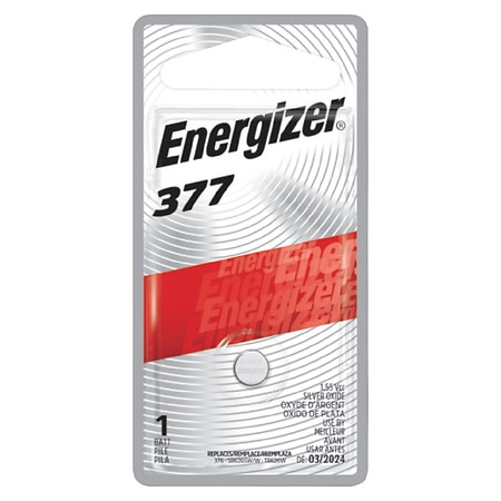 Energizer Watch/Electronic Silver Oxide Battery, 377