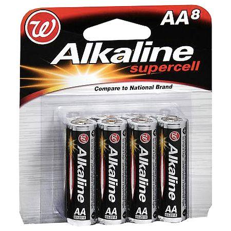 Walgreens Alkaline Supercell Batteries AA - 8 ea.