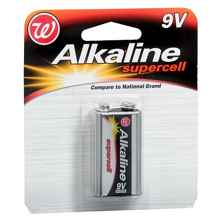 Walgreens Alkaline Supercell Batteries 9V