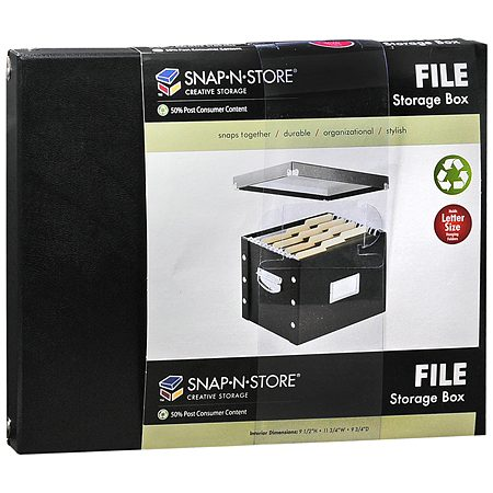 071261f6476 Snap-N-Store File Storage Box1.0 ea.