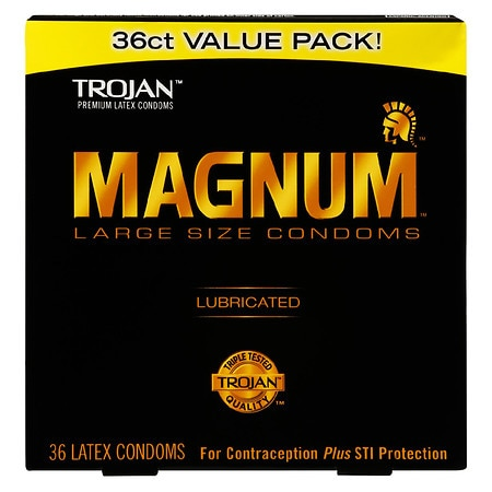 Trojan Magnum Lubricated Latex Condoms