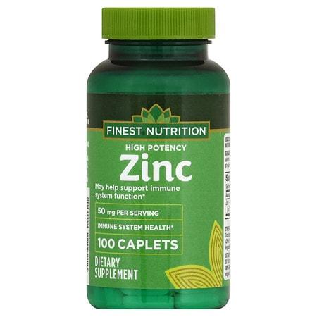 Finest Nutrition Zinc 50mg, Tablets - 100 ea