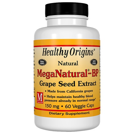 Healthy Origins MegaNatural-BP Grape Seed Extract 150 mg, Capsules