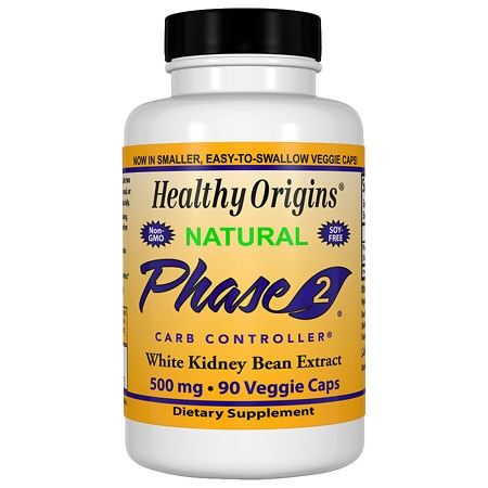 Healthy Origins Phase 2, White Kidney Bean Extract 500 mg, Capsules