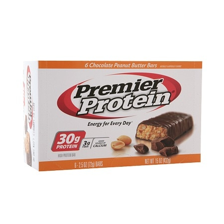 Premier Protein 30g Protein Bars Chocolate Peanut Butter - 2.5 oz. x 6 pack