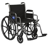 Medline Steel Wheelchair with Swingaway Footrests 20in Seat