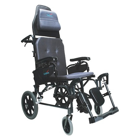 Karman 20 inch Lightweight Reclining Transport Wheelchair
